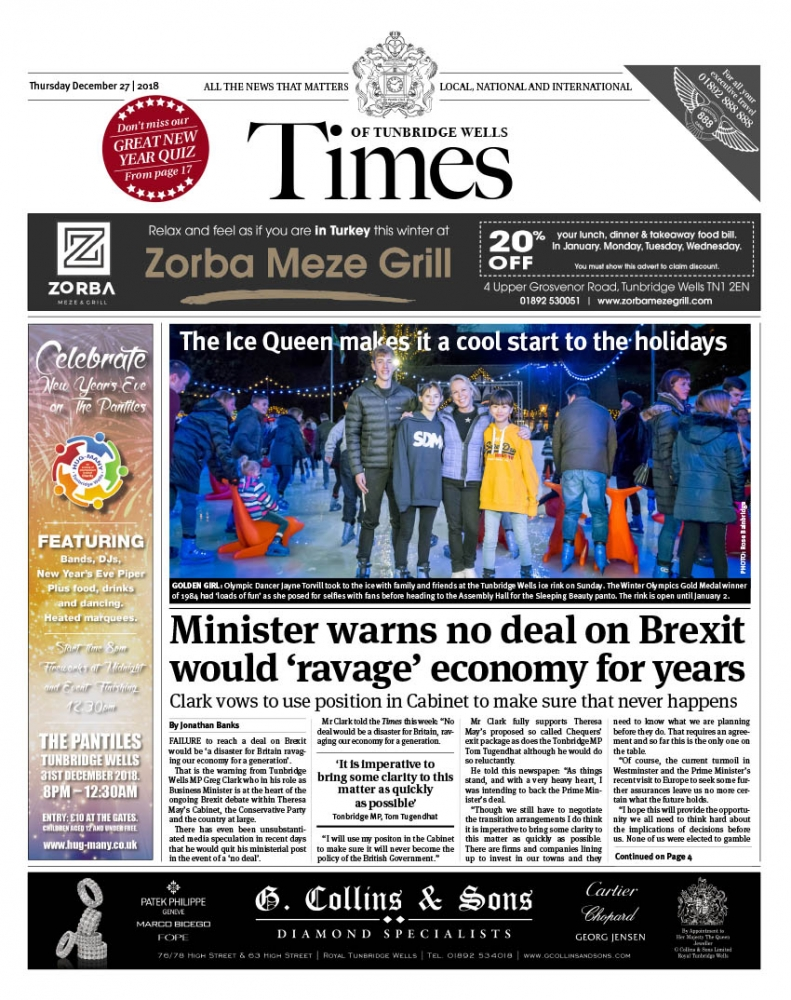Read the Times of Tunbridge Wells 27th December 2018