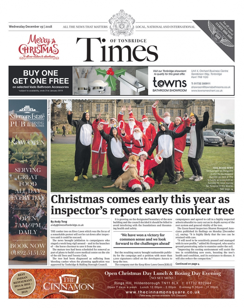 Read the Times of Tonbridge 19th December 2018
