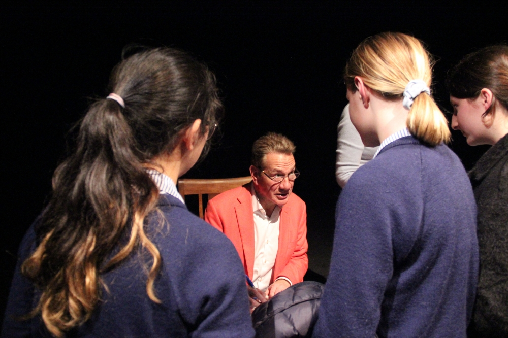 Former minister Michael Portillo gives pupils a lesson in politics