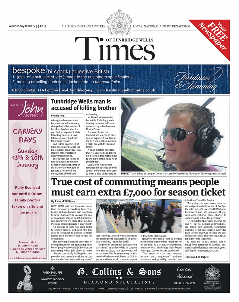Read the Times of Tunbridge Wells 9th January 2019