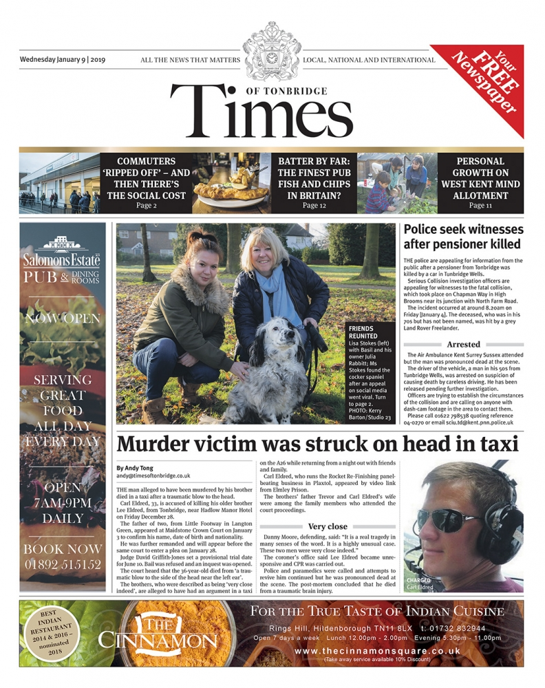Read the Times of Tonbridge 9th January 2019