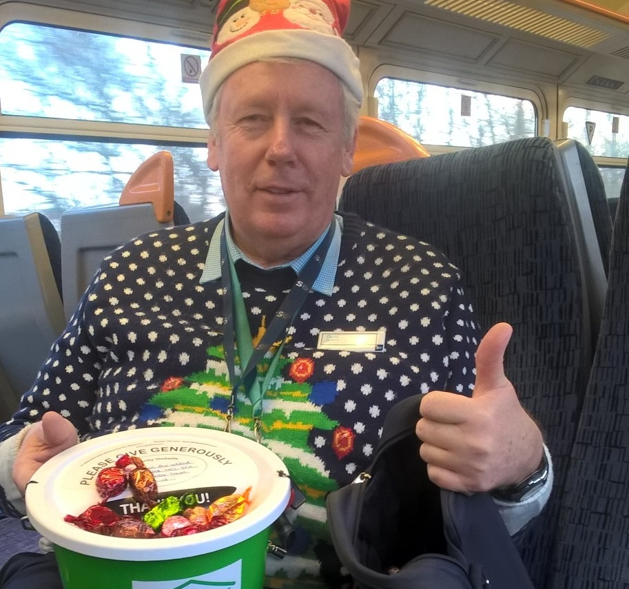 Treats on train are just the ticket for Hospice in the Weald