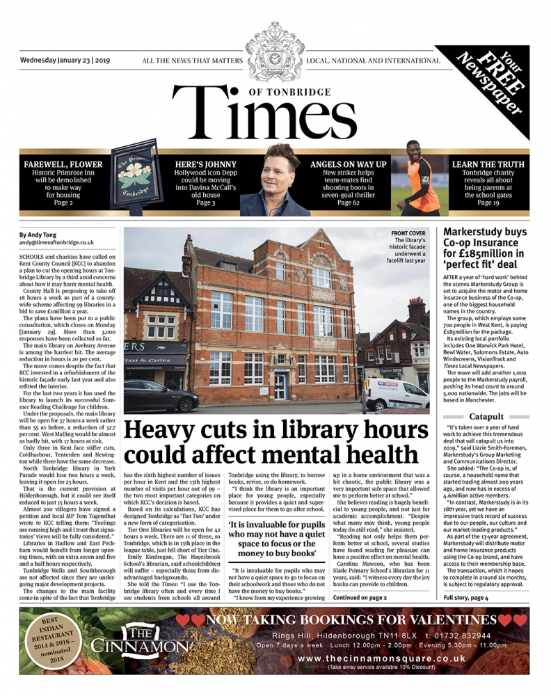 Read the Times of Tonbridge 23rd January 2019