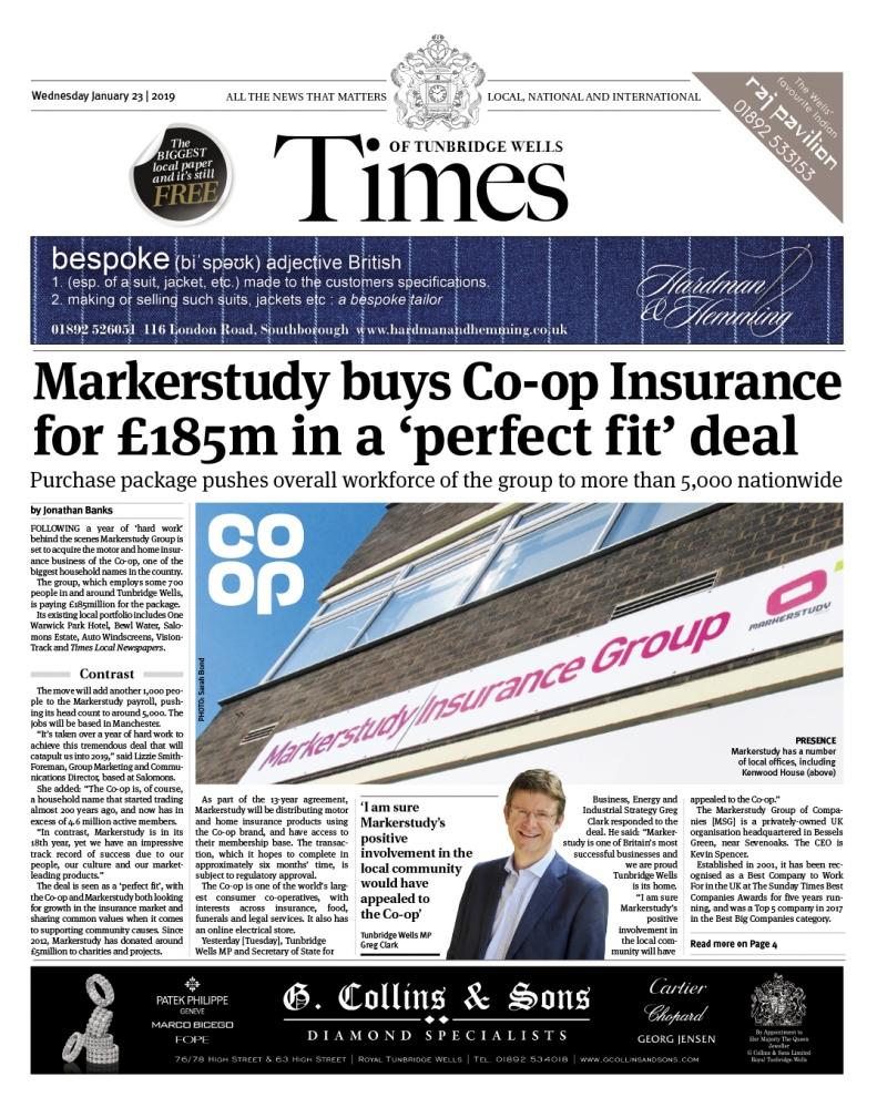 Read the Times of Tunbridge Wells 23rd January 2019