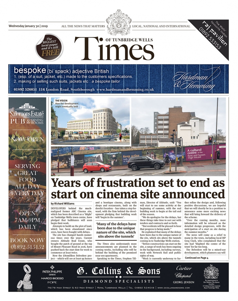 Read the Times of Tunbridge Wells 30th January 2019