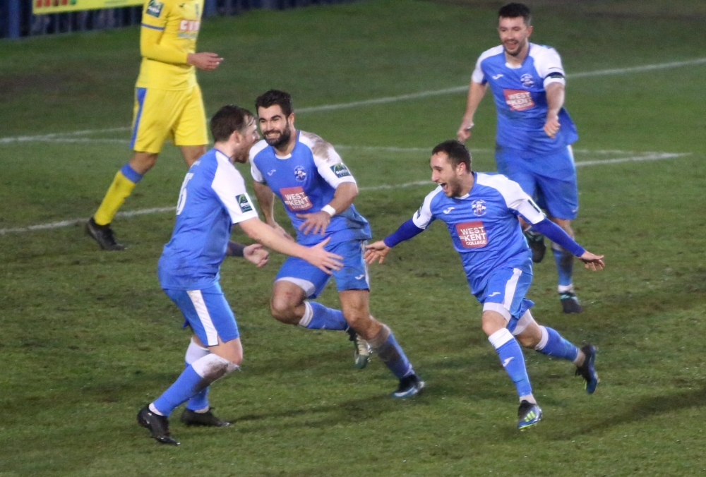 Football: Tonbridge Angels stun leaders Haringey with spectacular winner