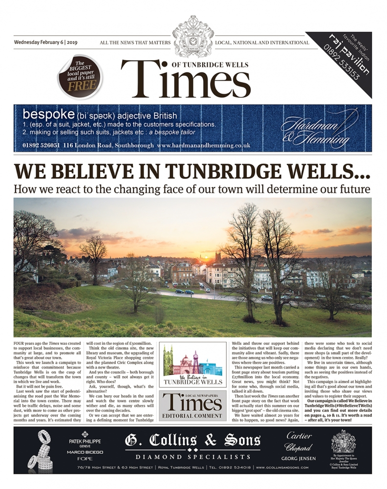 Read the Times of Tunbridge Wells 6th February 2019