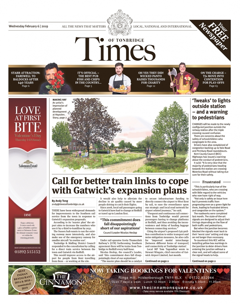 Read the Times of Tonbridge 6th February 2019