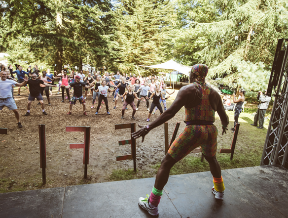 Mr Motivator is sure to get you going at the LoveFit Festival!