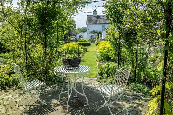 Seating areas are key to enjoying this garden