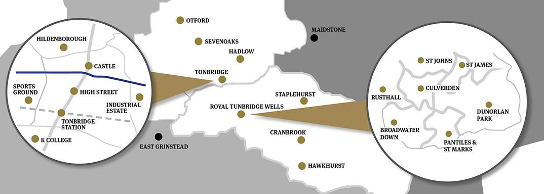 Times of Tunbridge Wells Tonbridge Distribution Map