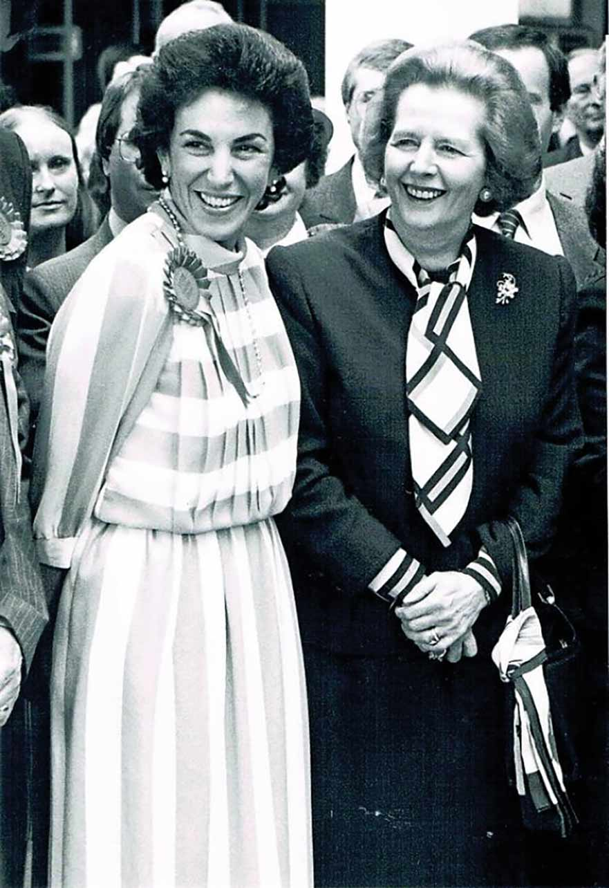 Edwina Currie and Margaret Thatcher