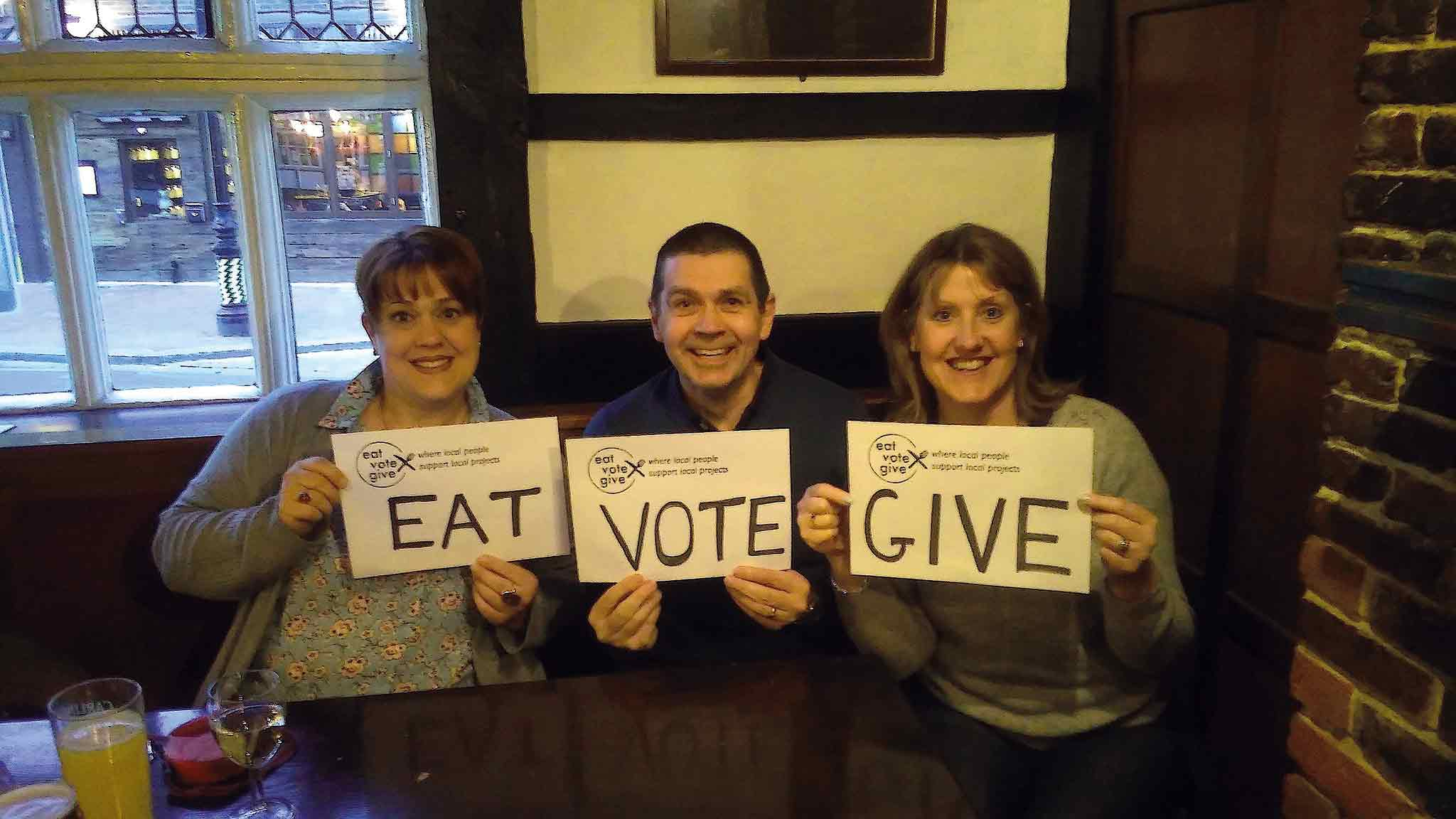 Eat Vote Give