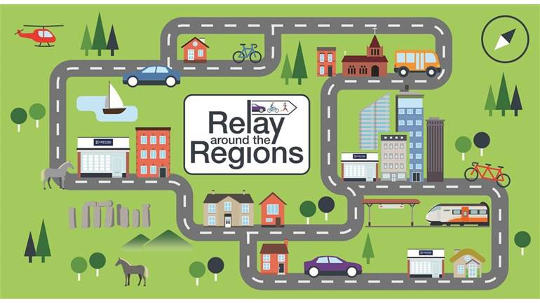 Relay around the Regions