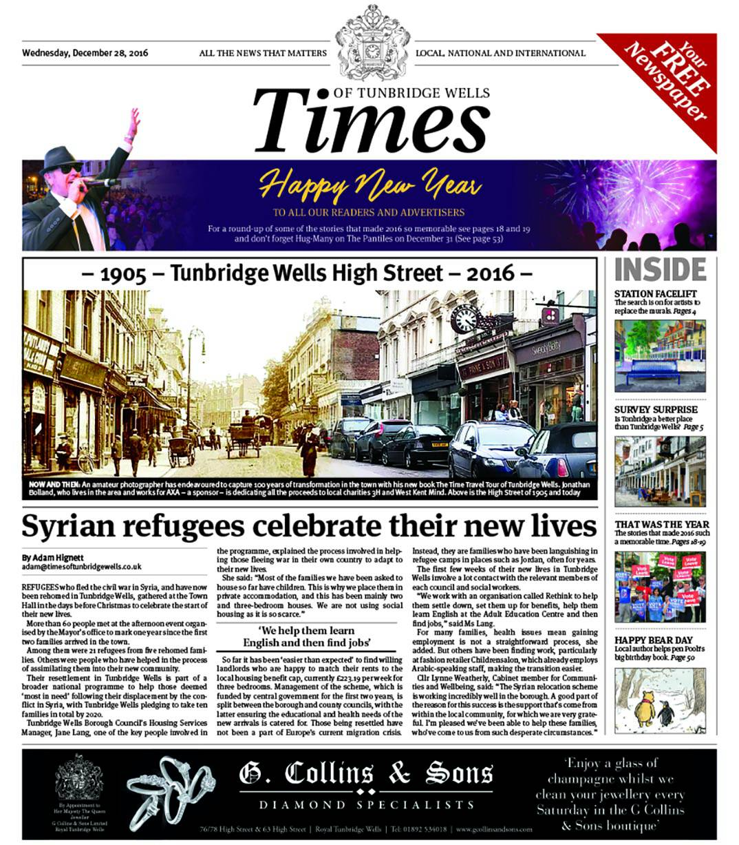Read the Times of Tunbridge Wells - 28th December 2016