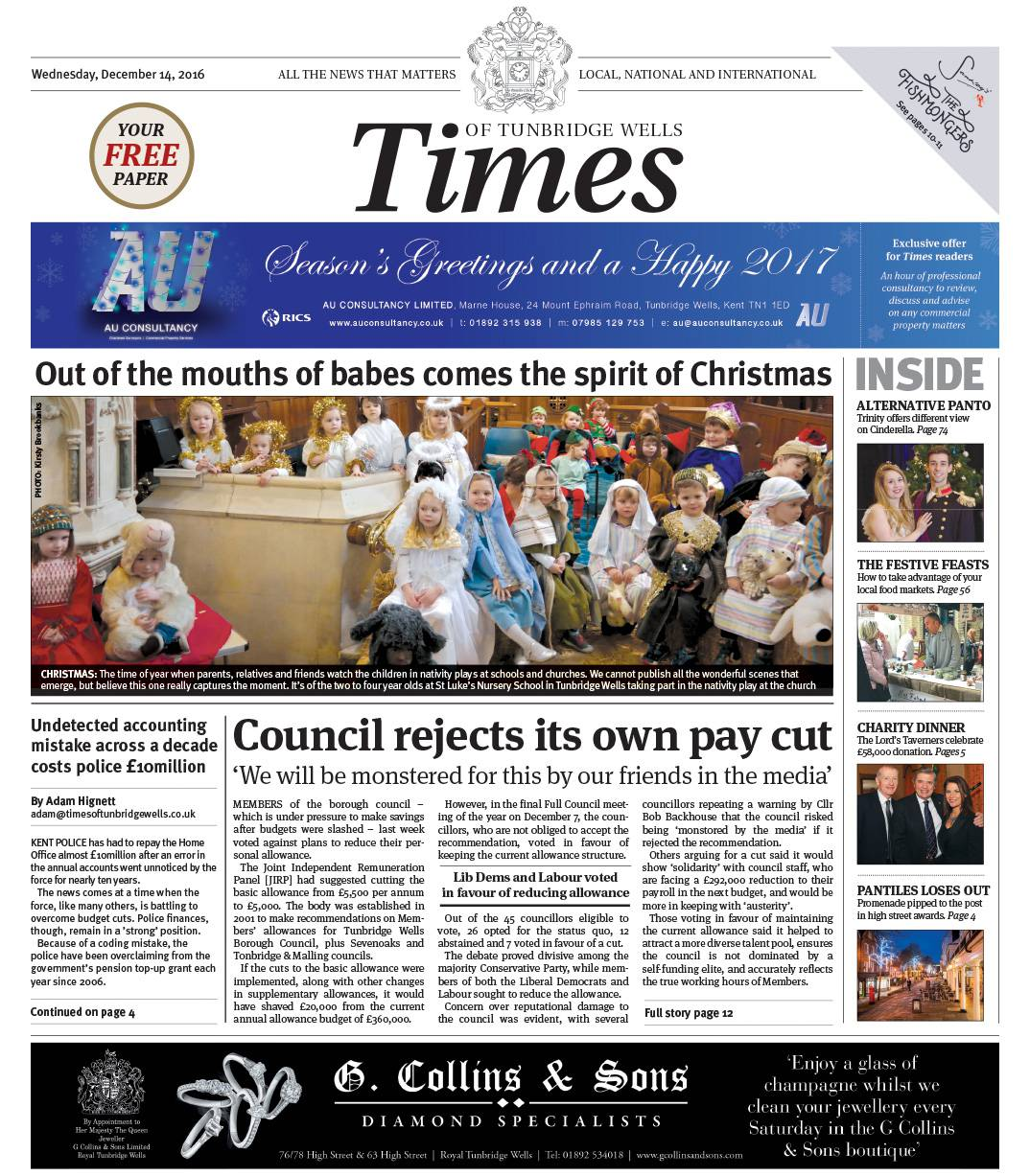 Read the Times of Tunbridge Wells - 14th December 2016