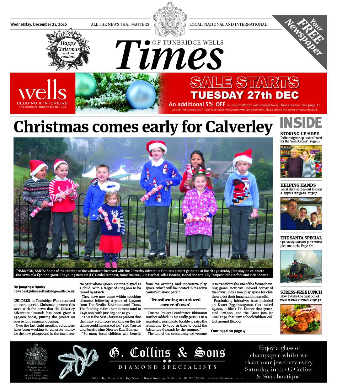 Read the Times of Tunbridge Wells - 21st December 2016