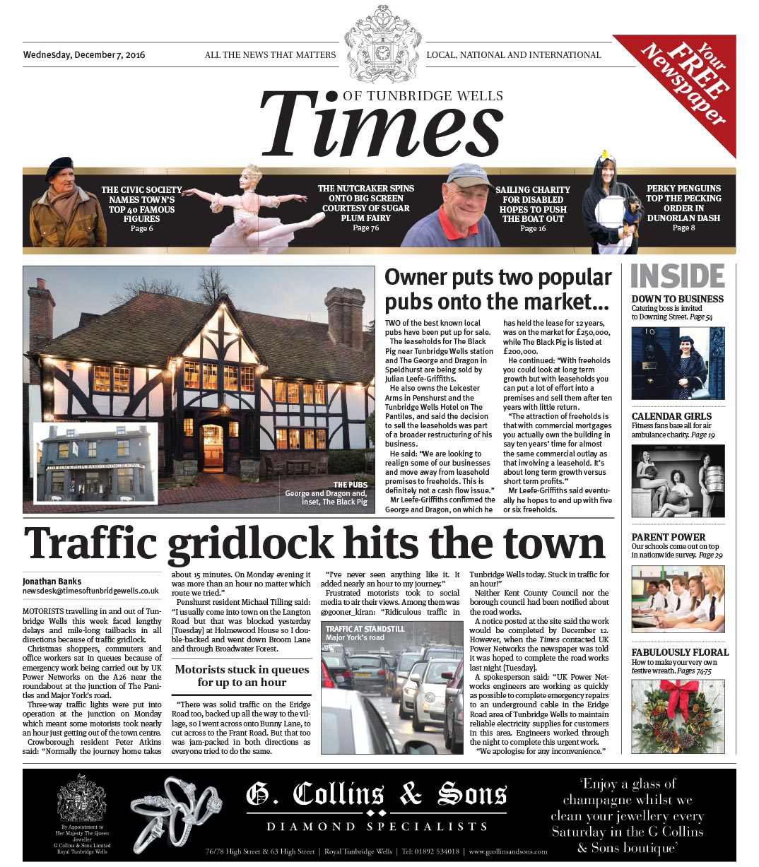 Read the Times of Tunbridge Wells - 7th December 2016