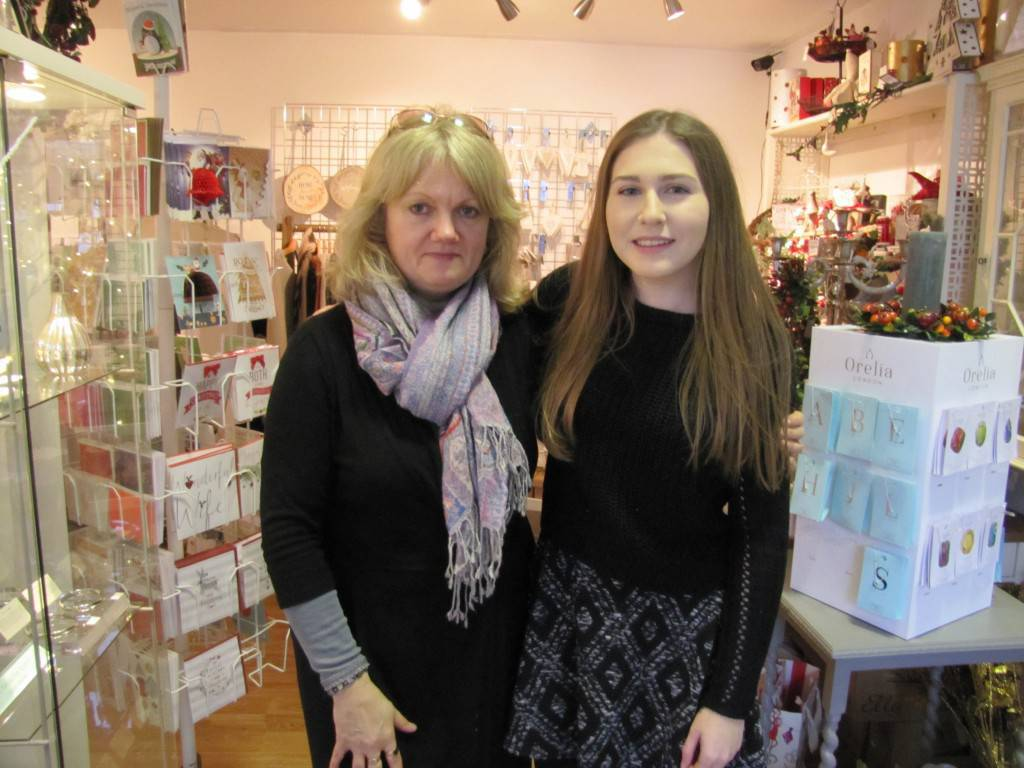The town's changing demographics appear to be having an impact on business. Owner of Little Blue Finch gift shop, Beth Cooper, revealed she is refocusing toward homeware since discovering it is 'especially popular with the people moving into the new town centre apartments.'(PIC: Jenny and Hannah from Little Blue Finch)