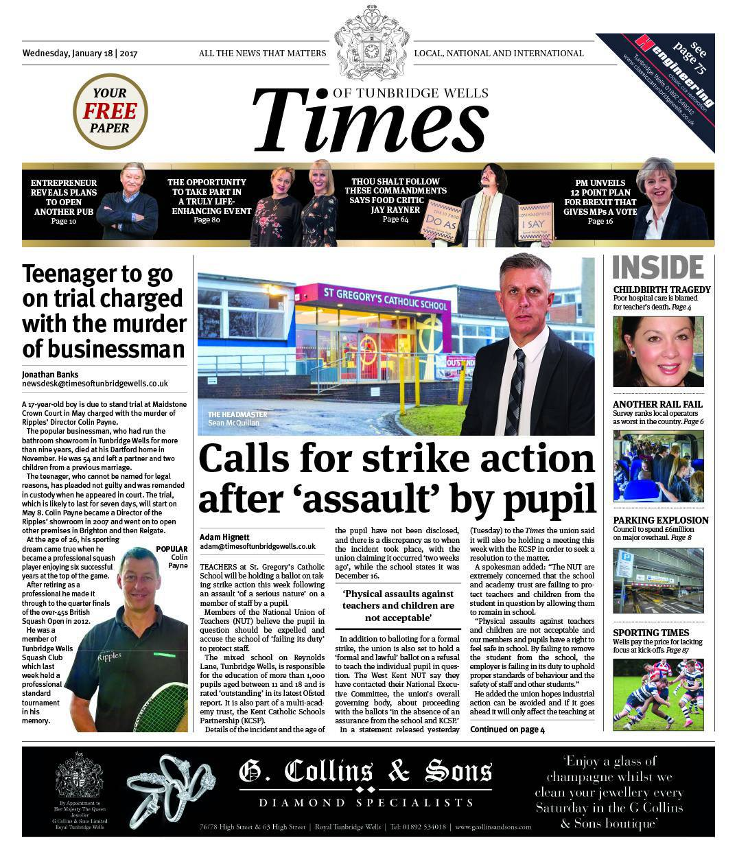 Read the Times of Tunbridge Wells - 18th January 2017
