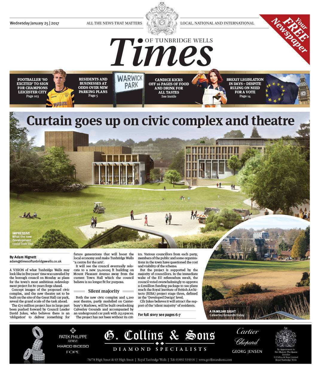 Read the Times of Tunbridge Wells - 25th January 2017