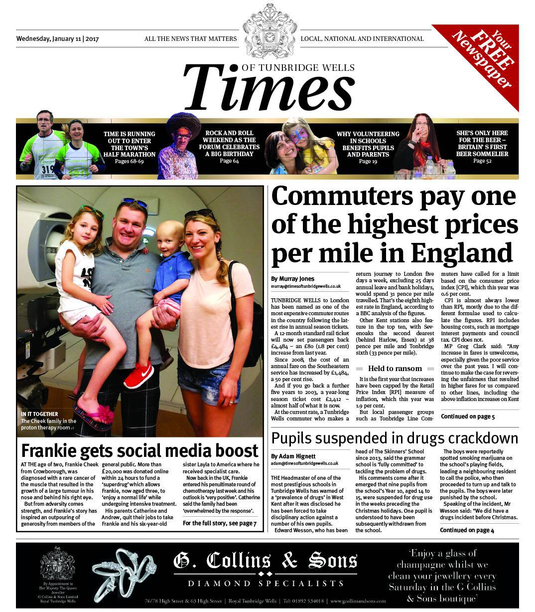 Read the Times of Tunbridge Wells - 11th January 2017