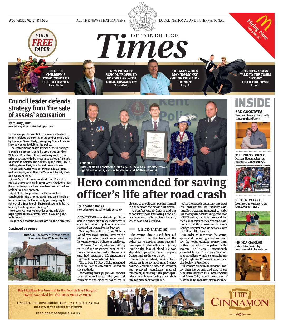 Read the Times of Tonbridge 8th March 2017