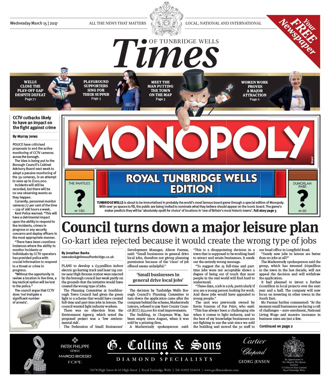 Read the Times of Tunbridge Wells 15th March 2017