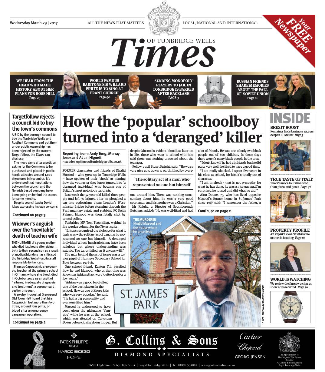 Read the Times of Tunbridge Wells 29th March 2017