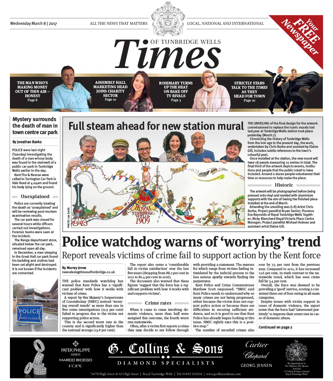 Read the Times of Tunbridge Wells 8th March 2017