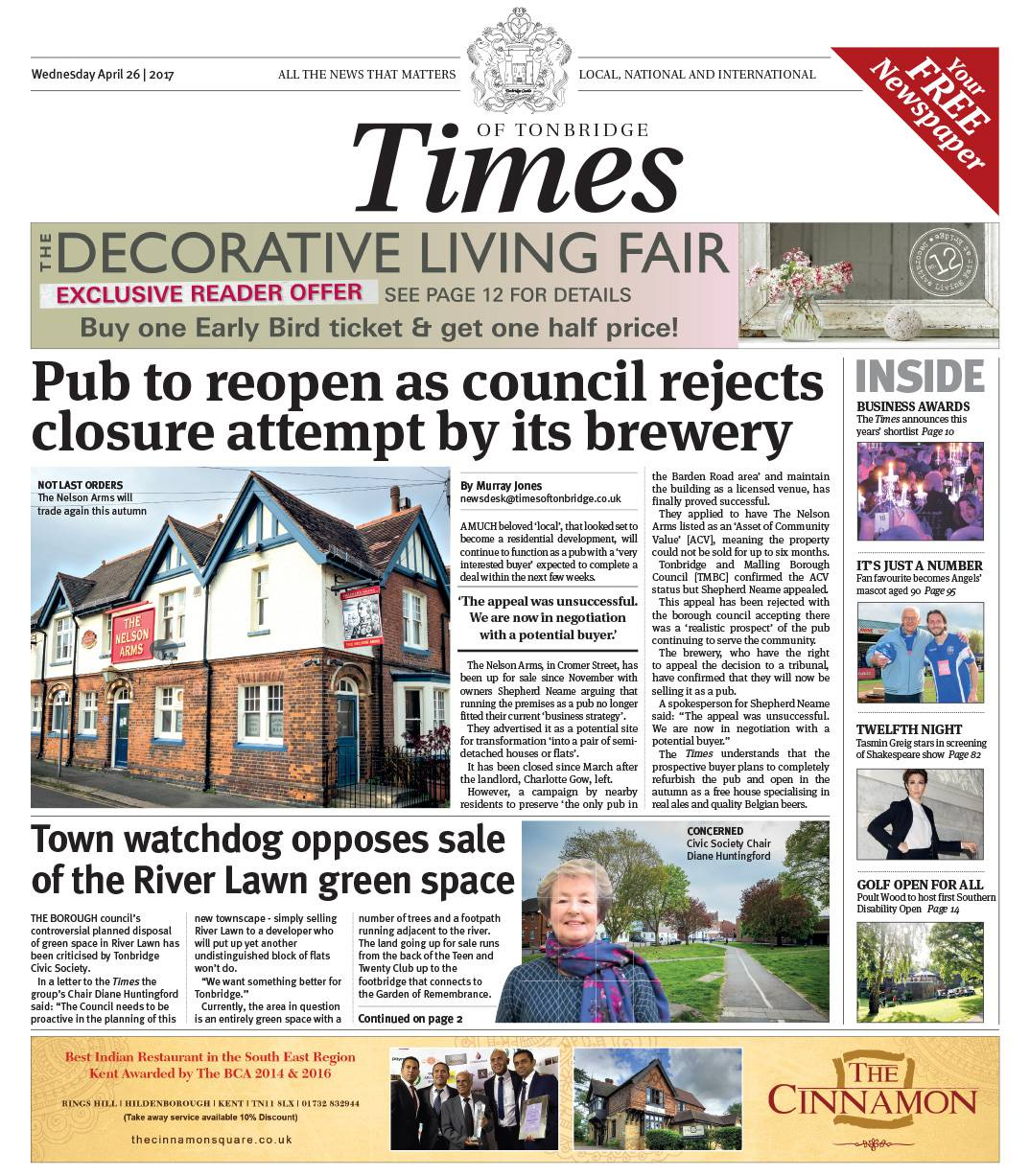Read the Times of Tonbridge 26th April 2017