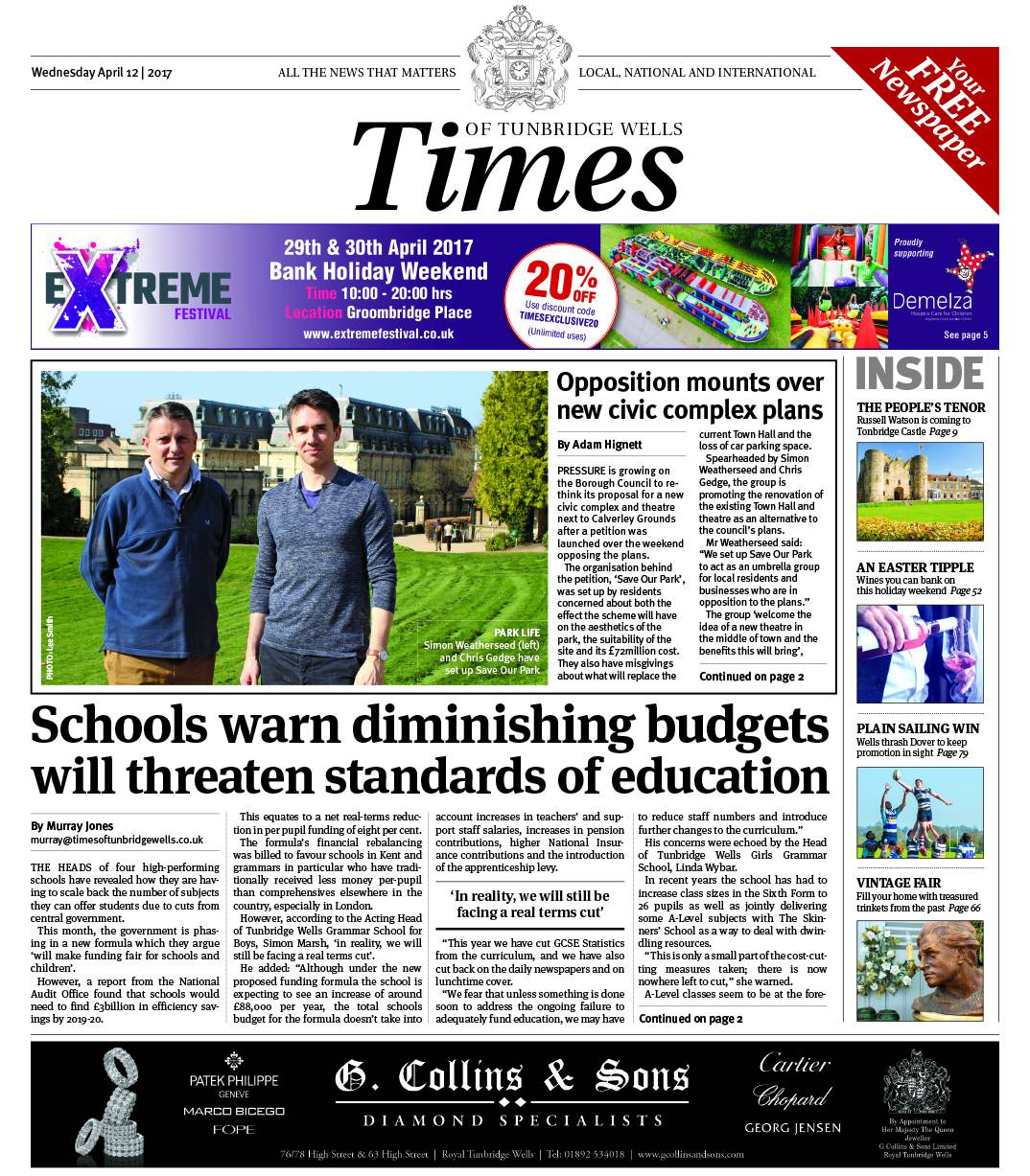 Read the Times of Tunbridge Wells 12th April 2017