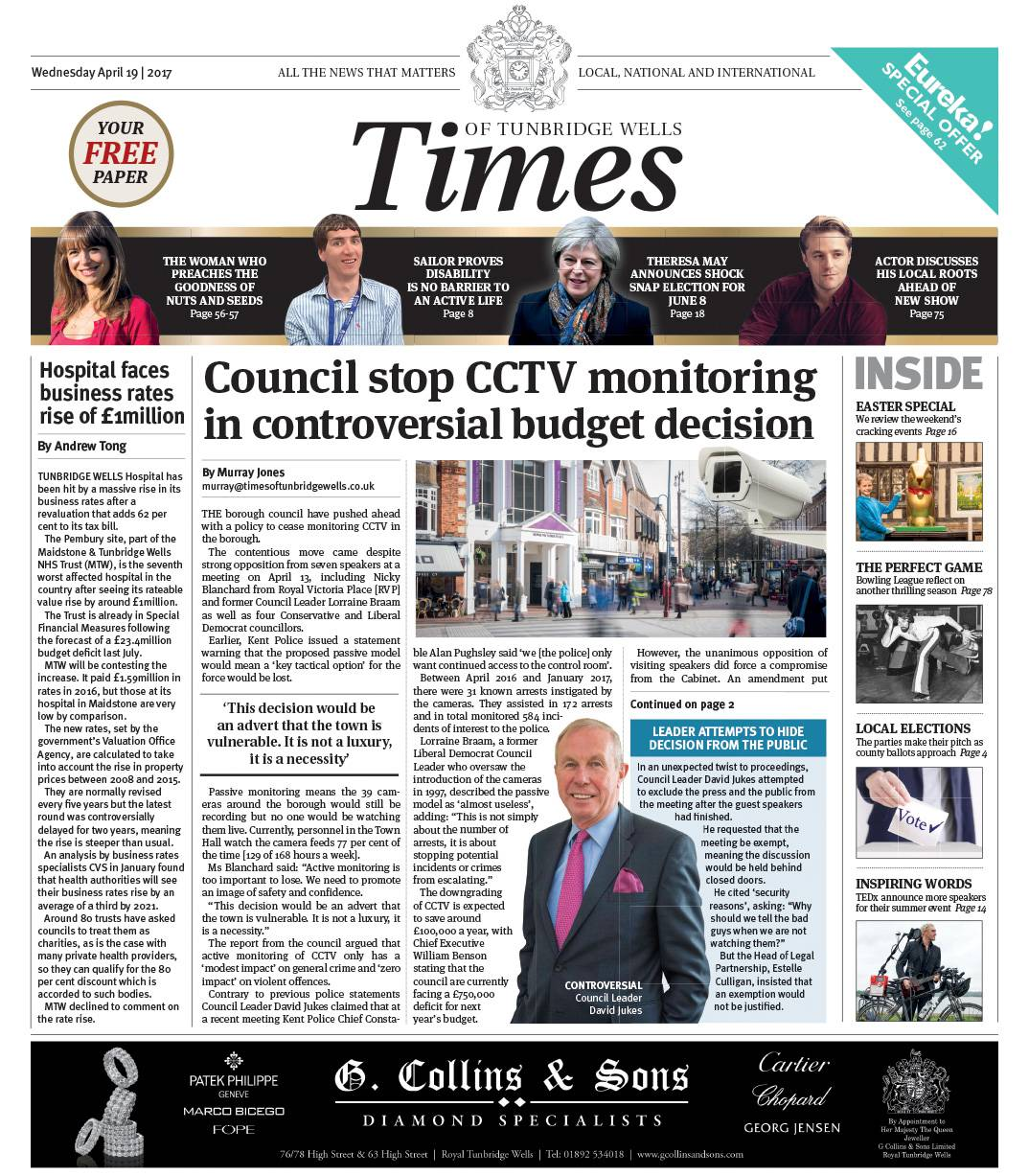 Read the Times of Tunbridge Wells 19th April 2017