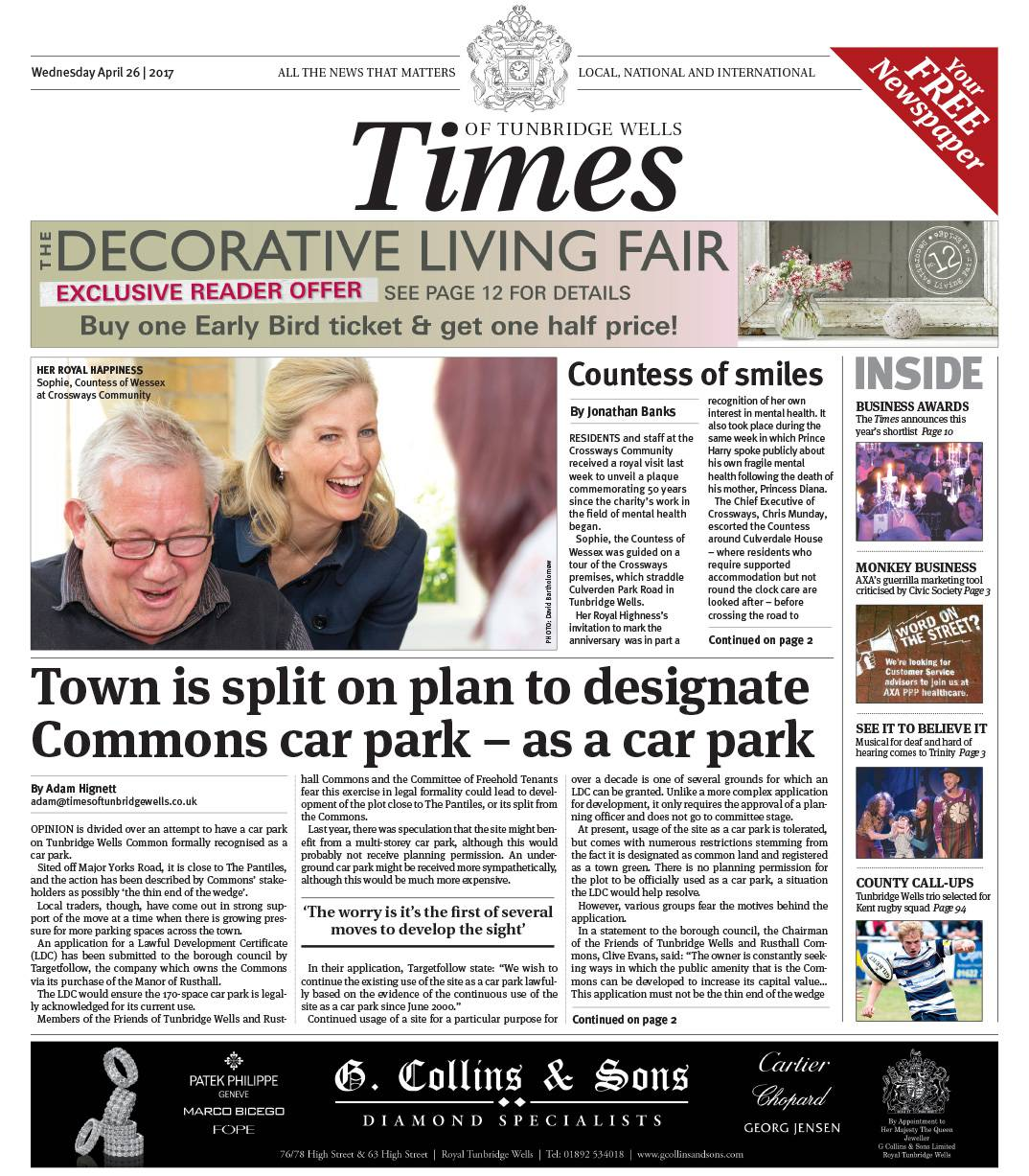 Read the Times of Tunbridge Wells 26th April 2017