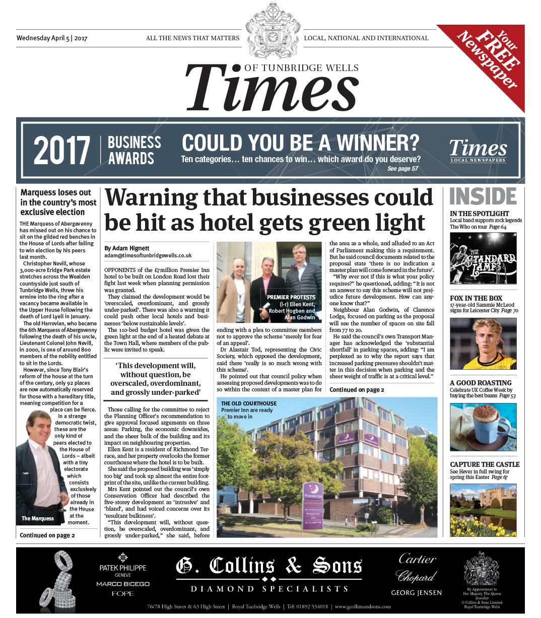 Read the Times of Tunbridge Wells 5th April 2017