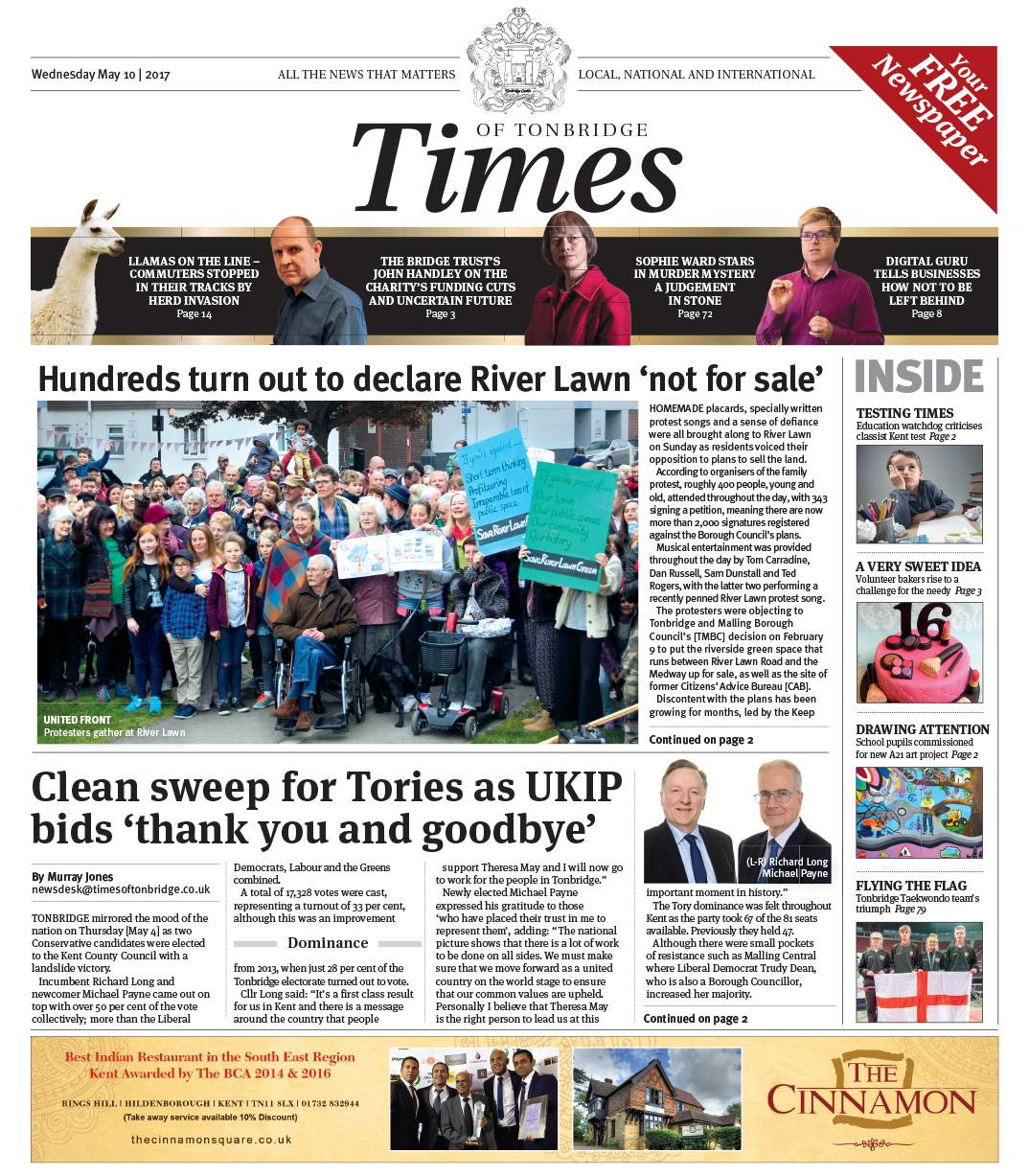 Read the Times of Tonbridge 10th May 2017