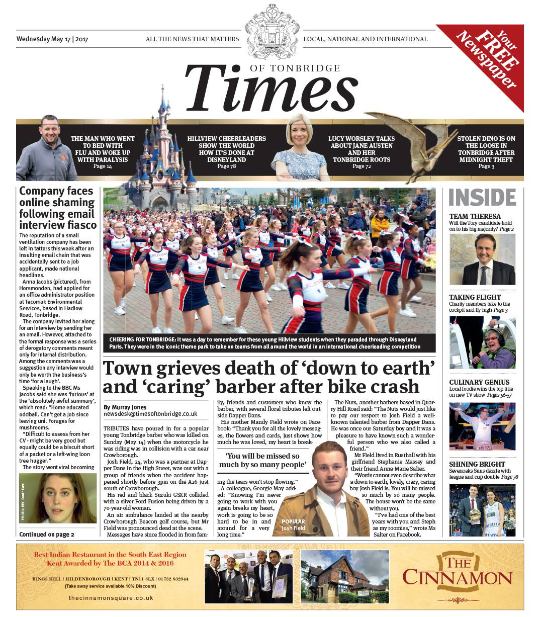 Read the Times of Tonbridge 17th May 2017