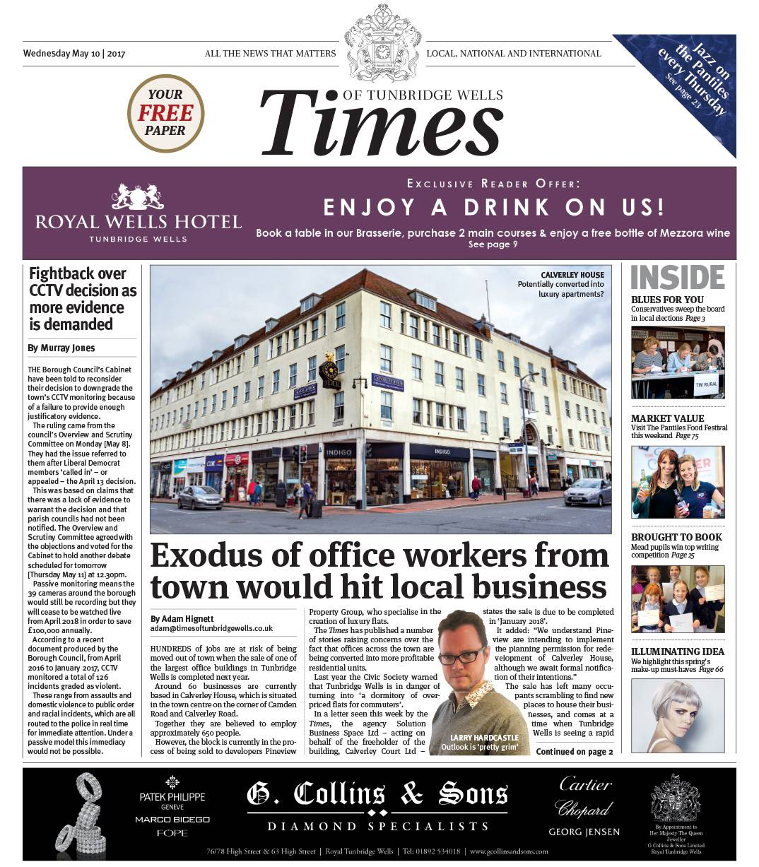 Read the Times of Tunbridge Wells 10th May 2017