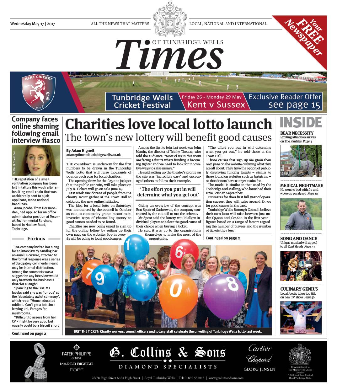 Read the Times of Tunbridge Wells 17th May 2017