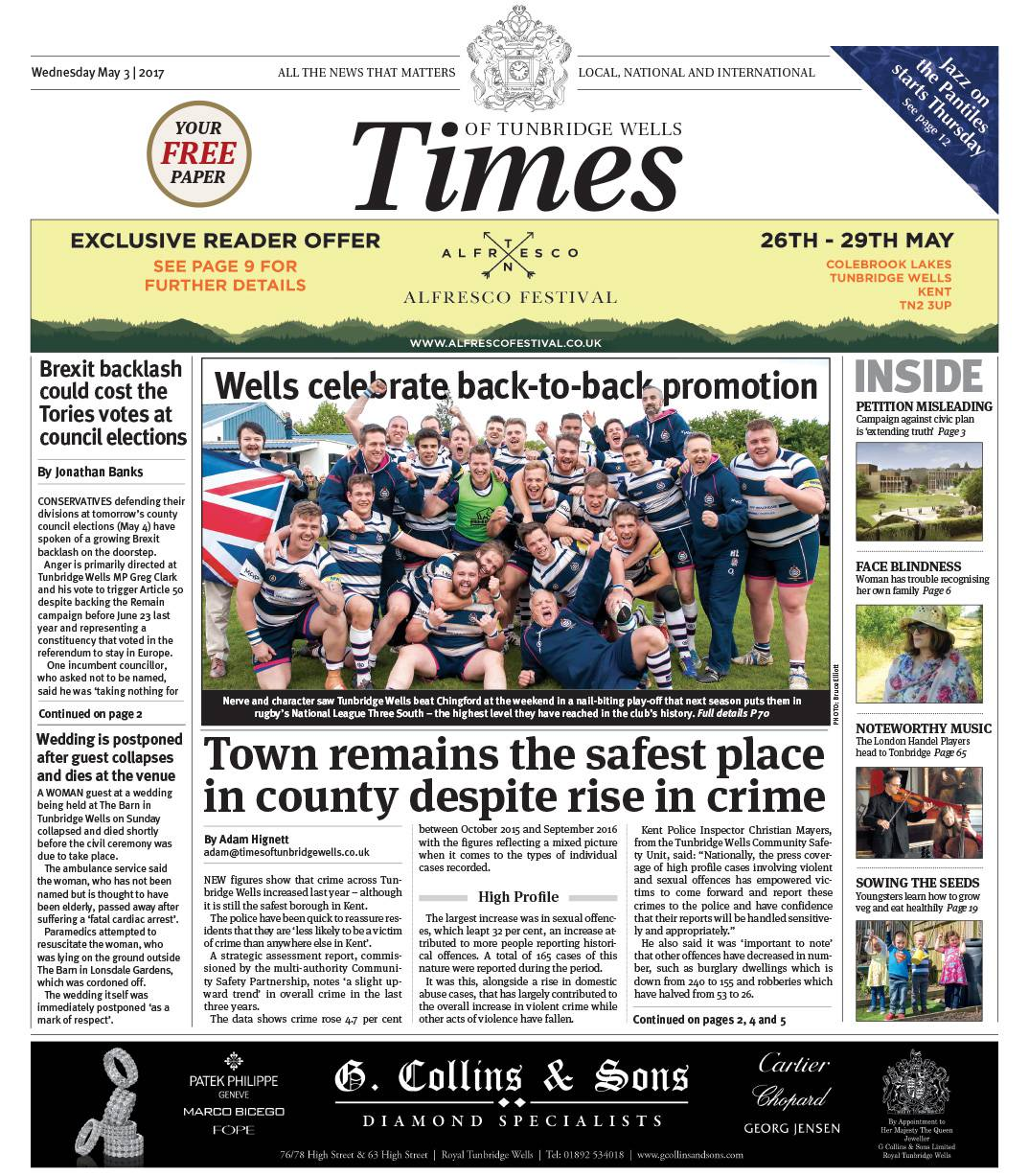 Read the Times of Tunbridge Wells 3rd May 2017
