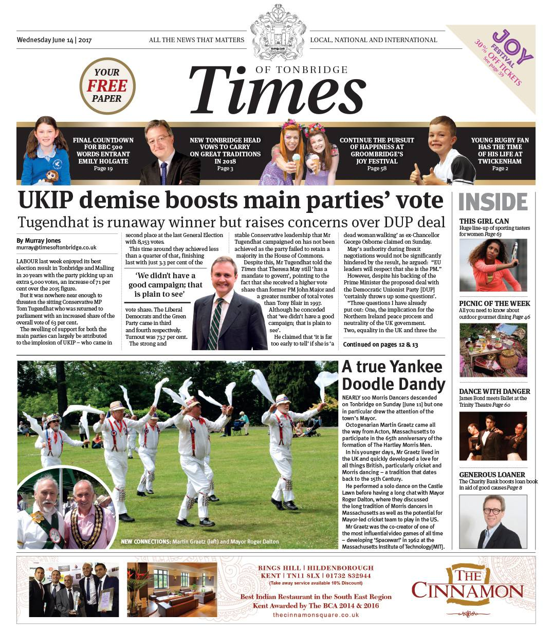 Read the Times of Tonbridge 14th June 2017