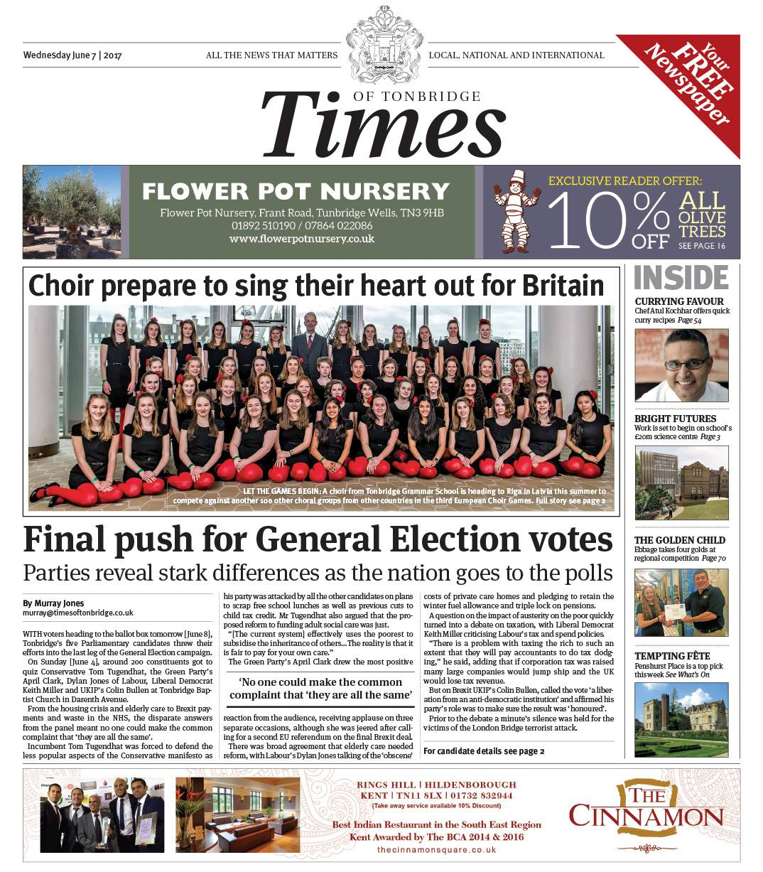 Read the Times of Tonbridge 7th June 2017
