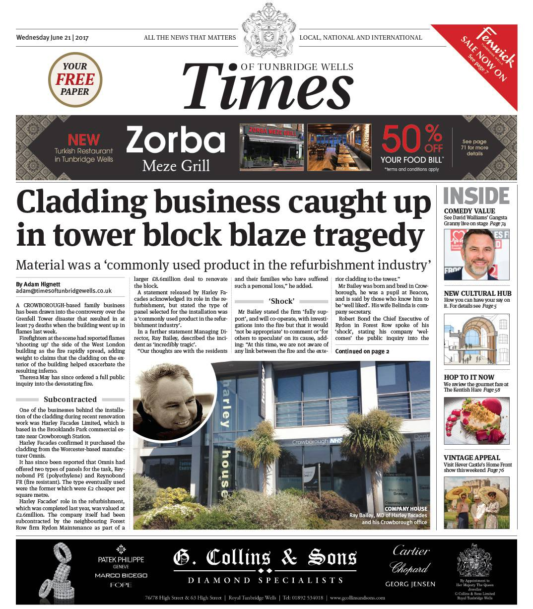 Read the Times of Tunbridge Wells 21st June 2017