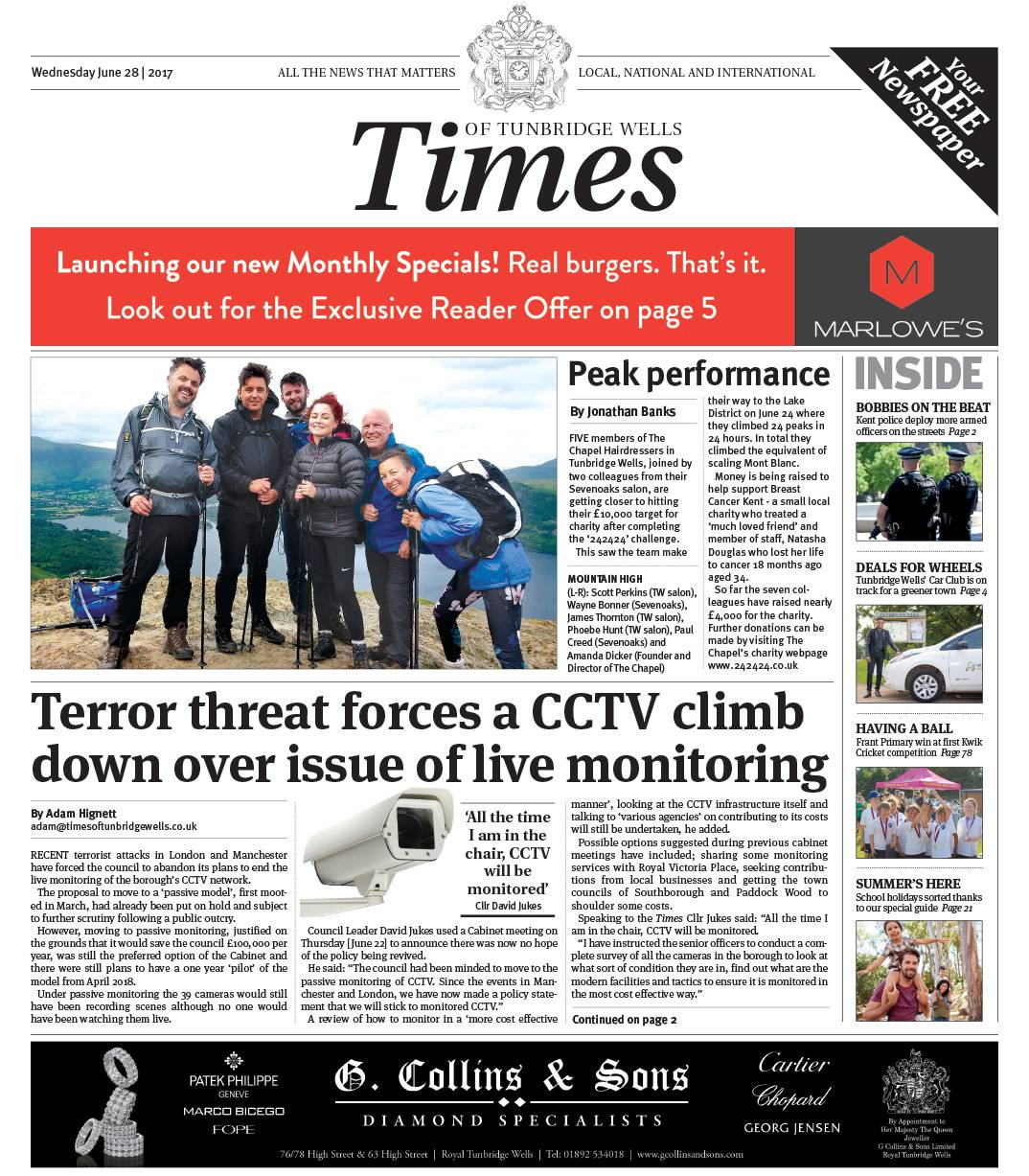 Read the Times of Tunbridge Wells 28th June 2017