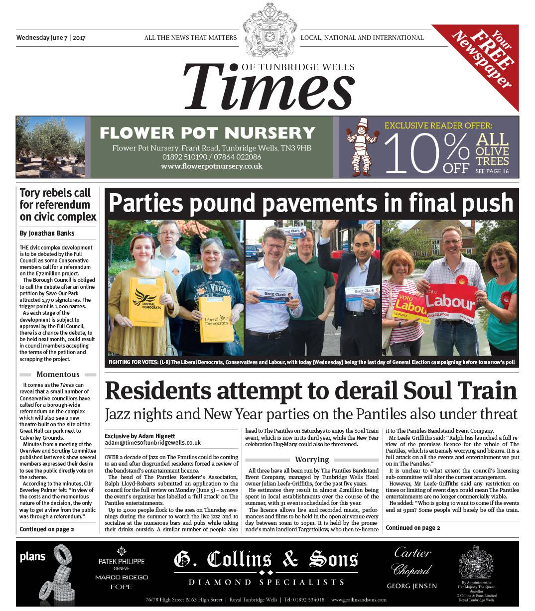 Read the Times of Tunbridge Wells 7th June 2017