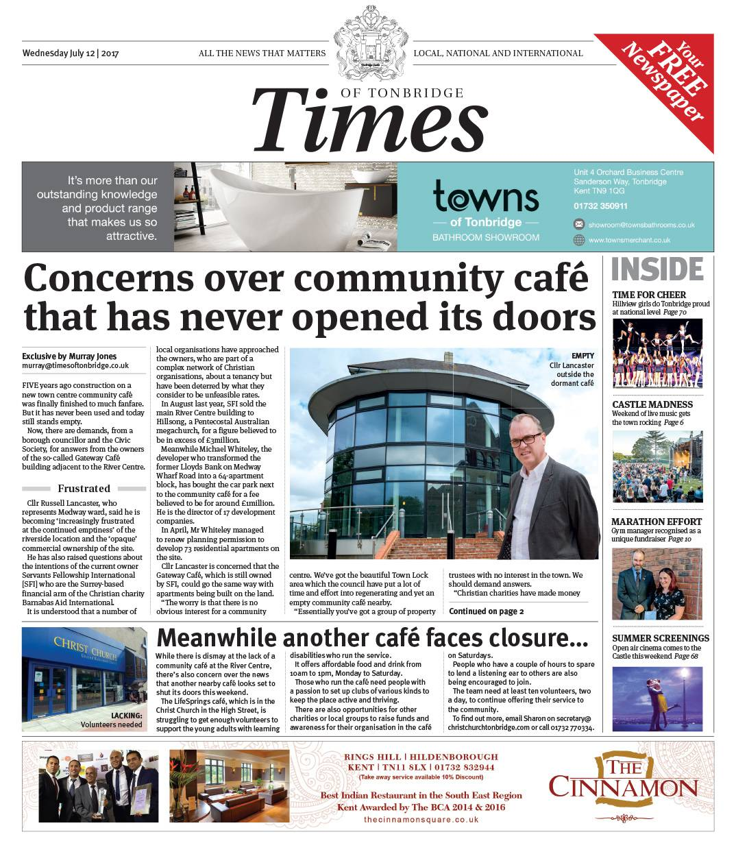 Read the Times of Tonbridge 12th July 2017