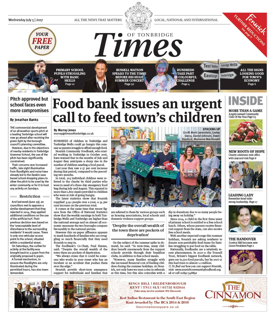 Read the Times of Tonbridge 5th July 2017