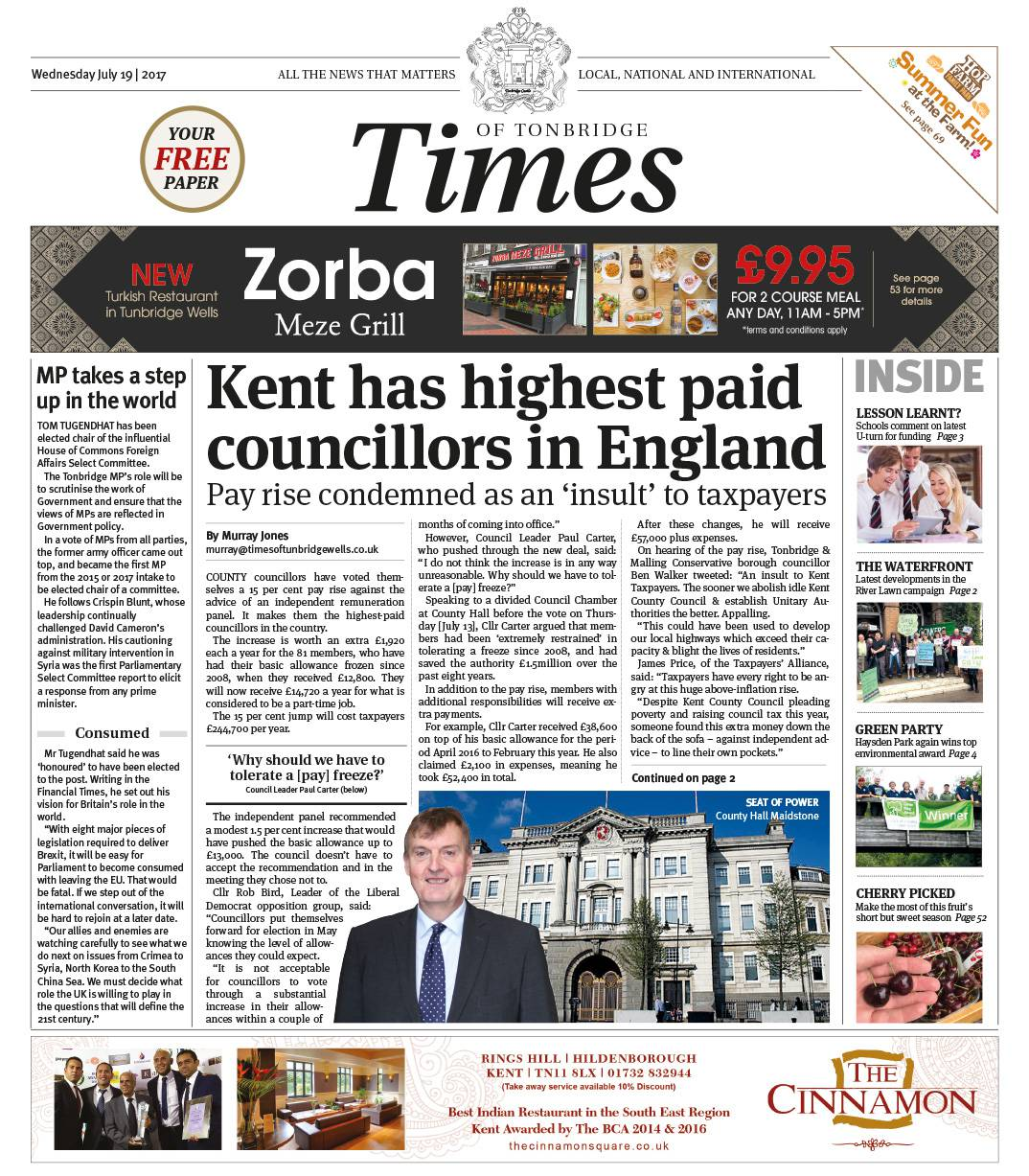 Read the Times of Tonbridge 19th July 2017