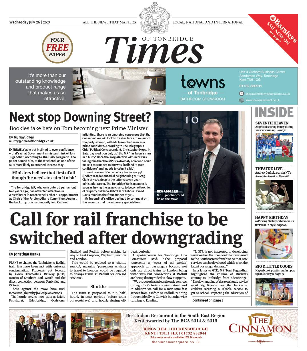 Read the Times of Tonbridge 26th July 2017