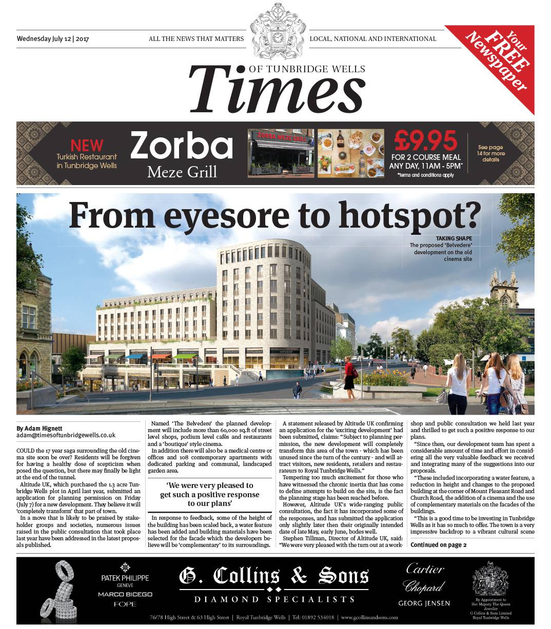Read the Times of Tunbridge Wells 12th July 2017